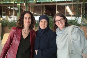 Julia, Houda and Laura-the filmmakers with their subject